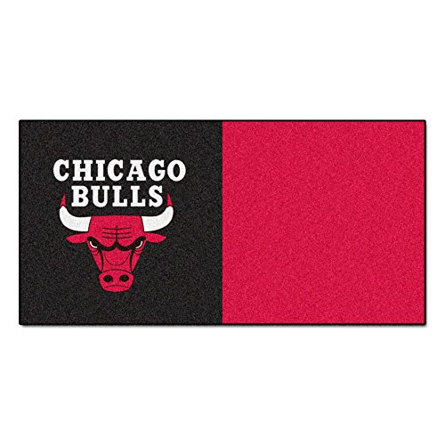 FANMATS NBA Chicago Bulls Nylon Face Team Carpet Tiles by Fanmats