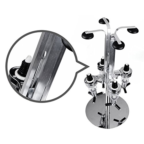 Kabalo Stainless Steel 4 Bottle Optic Rotary Stand for sale  Delivered anywhere in Canada