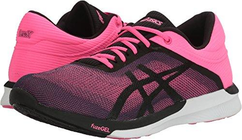 Pink And White Shoes (ASICS Women's Fuzex Rush Running Shoe, Hot Pink/Black/White, 8.5 M US)
