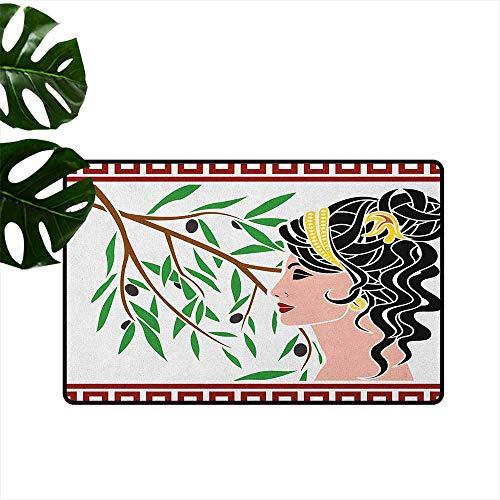 - RenteriaDecor Toga Party,Kids Floor mats Mythological Aphrodite Profile and Olive Branch Greek Borders Framework Print 36