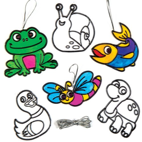 Pond Animals Suncatcher Hanging Window Decoration Kit for