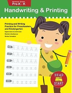 handwriting printing workbook grades pre k k printing and writing practice for