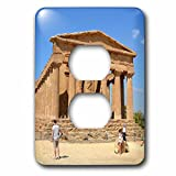 3dRose Cities Of The World - Valle dei Templi In Agrigento, Sicily, Italy - Light Switch Covers - 2 plug outlet cover (lsp_268616_6)