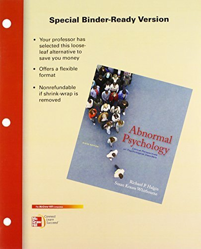 Abnormal Psychology: Clinical Perspectives on Psychological Disorders by Richard Halgin (2010-05-28)