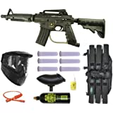 Tippmann US Army Alpha Black Elite Tactical Paintball Gun Starter Package