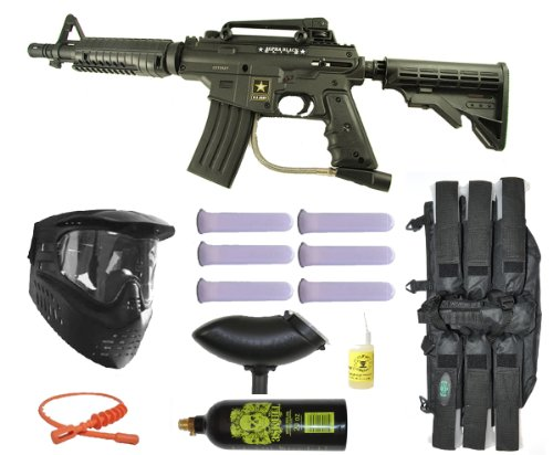 Alpha Black Army Us (Tippmann US Army Alpha Black Elite Tactical Paintball Gun Starter Package)