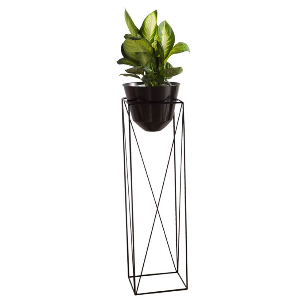 GQY Nordic Flower Shelf Living Room Floor-Standing Moderno E Minimalista Balcone in Ferro Battuto Flower Stand (Dimensioni   100  30CM)
