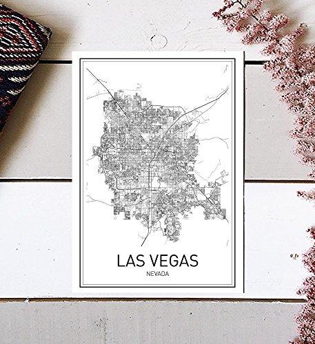 Las Vegas Poster, Las Vegas Map, City Map Posters, Las Vegas Map Print, Nevada Map, Nevada Poster, Minimalist Poster, Scandinavian Poster, Modern Map Art, Map Wall Art, Map Art, Black and White, 8x10