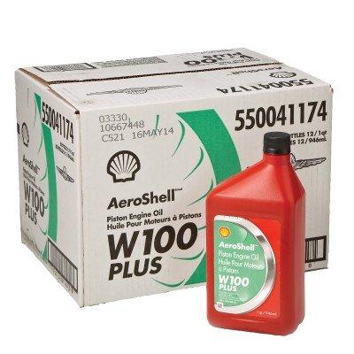 AeroShell Oil W 100 Plus - 550041174 - 12 1Quart Case by AeroShell
