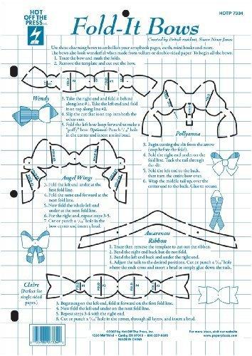 Hot Off The Press Paper Pizazz Plastic Templates, Fold-It Bows