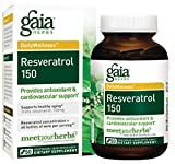 Gaia Herbs Resveratrol 150, Vegan Liquid Capsules, 50 Count – Antioxidant & Cardiovascular Support for Healthy Aging, Highly Concentrated Trans-Resveratrol For Sale