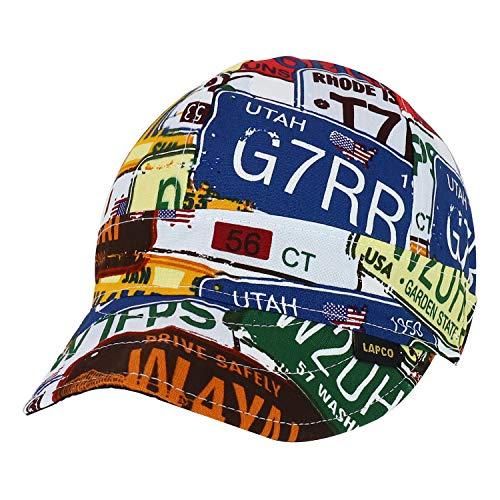 Trendy Apparel Shop 6 Paneled Soft Crown Reversible Cotton Welding Caps - License Plate