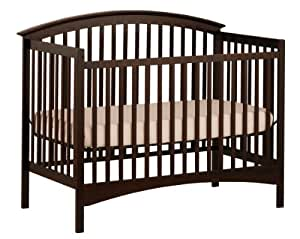 Stork Craft Bradford Fixed Side Convertible Crib, Espresso (Discontinued by Manufacturer)