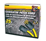 Prime GC143925 Generator Patch Cord, 25 ft 30 Amp 4 Prong Twist-to-Lock