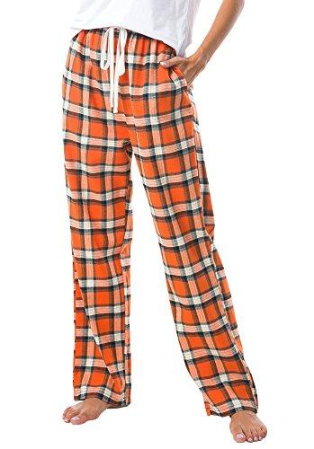 - Urban CoCo Women's Classic Tartan Plaid Pajama Lounge Pants (XL, Orange)