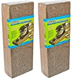 Ware Manufacturing 4 Pack of Corrugated Reversible Regular Scratcher Pads, Natural