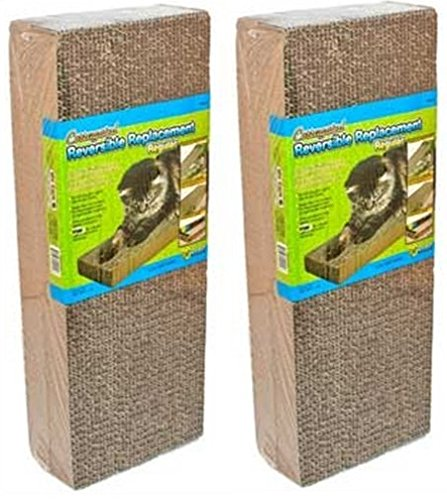 - Ware Manufacturing 4 Pack of Corrugated Reversible Regular Scratcher Pads, Natural