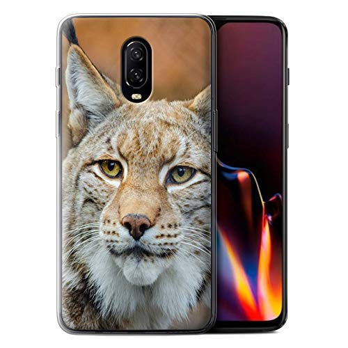 STUFF4 Gel TPU Phone Case/Cover for OnePlus 6T / Lynx/Bobcat Design/North America Animals Collection