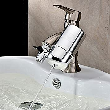 Amazon.com: Classic Vertical Water Filtration Faucet Healthy Faucet ...