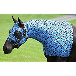 Sleazy Sleepwear for Horses Medium Bubbles Print Stretch Hood