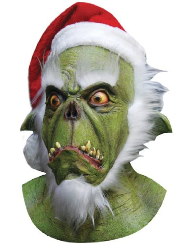 Grinch Latex Mask (Green Santa Grinch Mask)