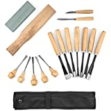 Whittling Wood Carving Tool Set 16 Piece from SculptWorks includes Beginners Whittling knife & is perfect for the first time Woodsculpting novice plus all accessories with woodwork Instructional Flyer