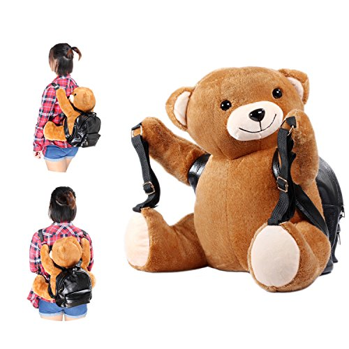 Kosbon 3D Bear Plush Stuffed Animal Doll Backpack Schoolbag. (Warm Hand)