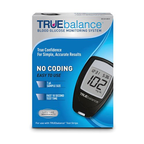 Truebalance-Blood-Glucose-Monitoring-System-Complete-kit-Include-10-Test-Strips