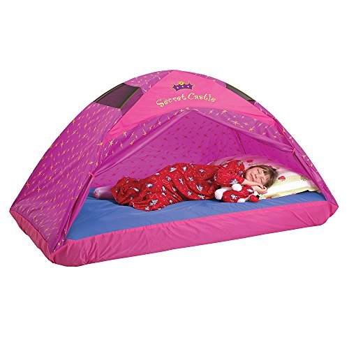 Pacific Play Tents 19720 Kids Secret Castle Bed Tent Playhouse - Twin Size , Yellow
