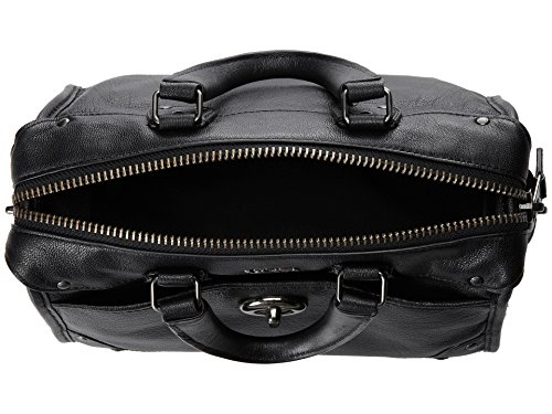 Coach Rhyder 24 Satchel in Leather, Style 33690, Black by Coach (Image #2)