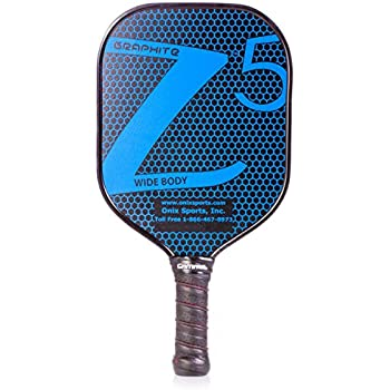 ONIX Graphite Z5 Pickleball Paddle (Graphite Carbon Fiber Face with Rough Texture Surface, Cushion Comfort Grip and Nomex Honeycomb Core for Touch, Control, ...