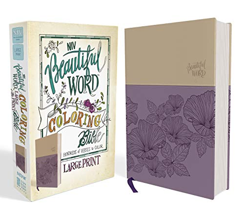 NIV, Beautiful Word Coloring Bible, Large Print, Leathersoft, Purple/Tan (Best Gesso For Art Journaling)
