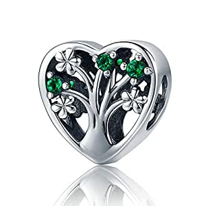 Pandora Style Charm Bracelets Charms Luxury Sterling Silver Enamel Tree of Life Charms fit Charms Bracelets