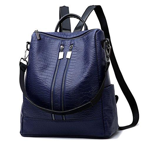 CrazySell - Bolso mochila  para mujer Talla única azul oscuro
