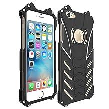 Iphone 6 Plus Case, Oxidation Aerospace Aluminum Metal Tech Armor Shockproof Drop Resistance Protective Bumper Back Cover For Iphone 6 Plus
