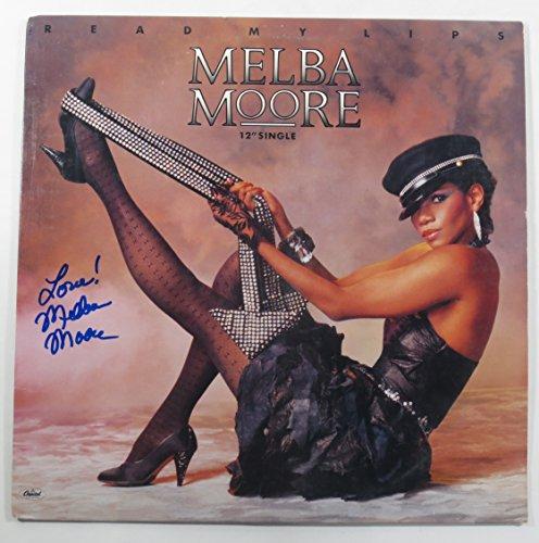 """Melba Moore Signed 12"""" Single Record Album Read My Lips w/ AUTO"""