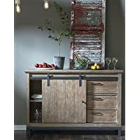 Samuel Lawrence Flatbush Brown Sliding Door Console