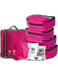 Travel Organizer Set for Luggage & Suitcase - Packing Cubes, Toiletry, Shoe Bags