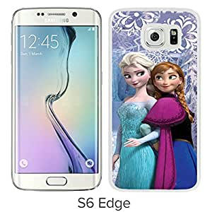 Frozen Elsa And Anna White Case with Fashion and Luxurious Design for Custom Samsung Galaxy S6 Edge