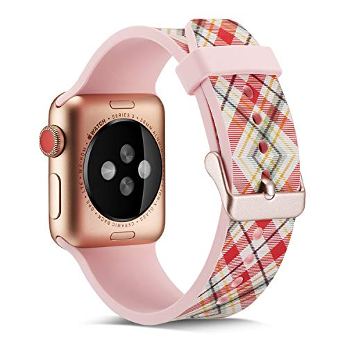 - for Apple Watch Band 38mm/40mm,Fashion Pattern Designs Smartwatch Silicone Bands for Womens Men/Wristbands for iWatch Series 4&3&2&1 (Pink 7)