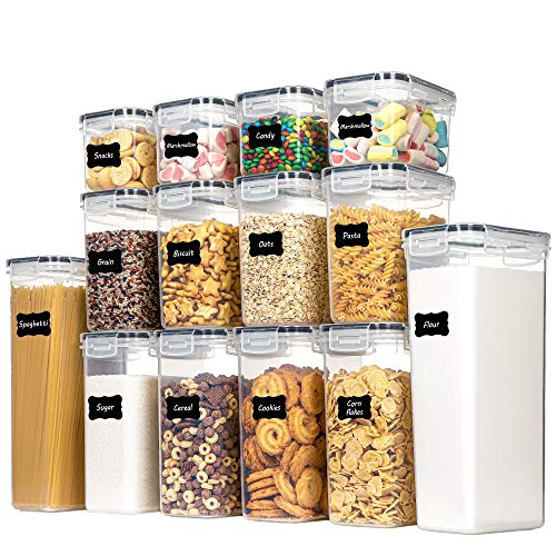 Chefstory Airtight Food Storage Containers Set, 14 PCS Kitchen Storage Containers with Lids for Flour, Sugar and Cereal…