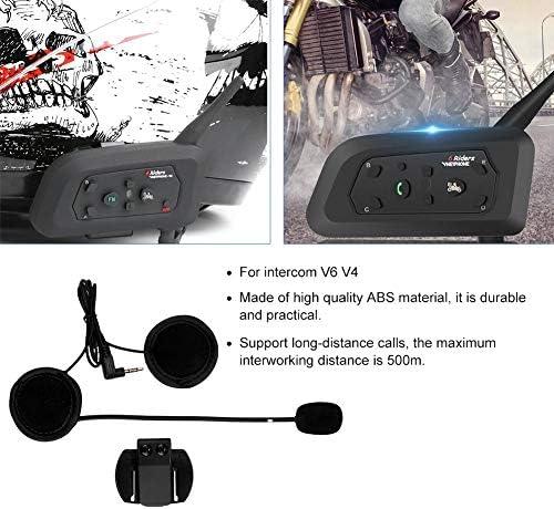Suuonee Helm Bluetooth Kopfhörer Motorrad Outdoor Helm V6 V4 Interphone Headset Kopfhörer Stereo Musik Und Sprachmikrofon Auto