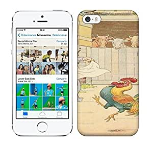 Best Power(Tm) HD Colorful Painted Watercolor Cock A Doodle Doo Nursery Rhyme Art Print Hard For SamSung Galaxy S4 Mini Phone Case Cover