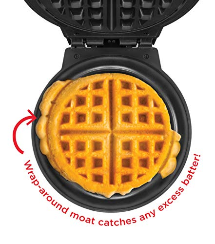 Chefman Anti-Overflow Maker w/Shade & Mess Free Waffle & Touch Measuring