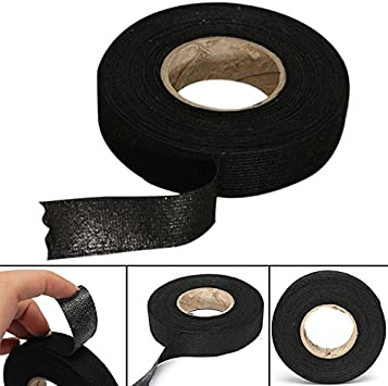 Cloth Fabric Tape - Black Adhesive Cloth Fabric Tape Cable Wiring Harness  For Car Looms Protection 19mm x 15M - - Amazon.comAmazon.com