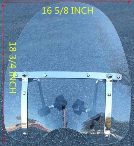 Large Windshield 19 x17 for Honda Cruiser Magna Shadow Spirit Sabre 600 750 1100