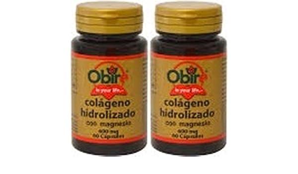 Pack AMAZON Colágeno marino hidrolizado 200 mg. 60 capsulas con magnesio y vitaminas C, B-6, B-9 y B-12.: Amazon.es: Salud y cuidado personal