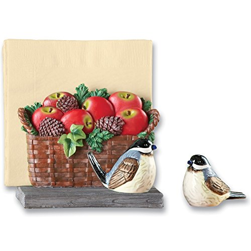 Chickadee Pepper Napkin Holder Dolomite