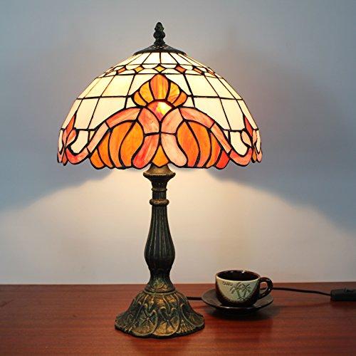 HOME UK- 12-Zoll-europäischen Stil minimalistischen Schlafzimmer Wohnzimmer Couchtisch Nachtkommode kreative handgemachte Glas Tiffany-Lampe