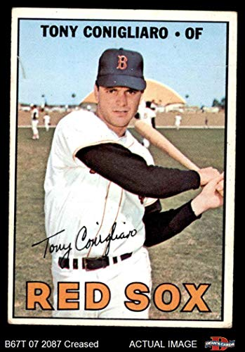 1967 Topps # 280 Tony Conigliaro Boston Red Sox (Baseball Card) Dean's Cards 3 - VG Red Sox